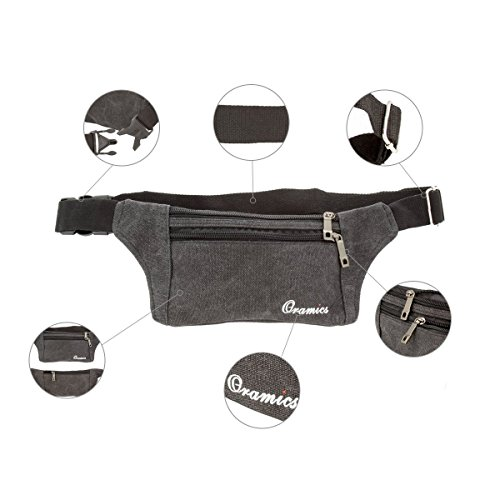 Oramics Sport elastische Bauchtasche – Ideales Sport- und Reise-Bauchtasche – Sichere Verstauung – Unauffälliges Tragen unter der Kleidung – Lauftasche - 2