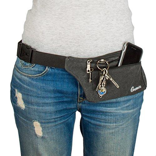 Oramics Sport elastische Bauchtasche – Ideales Sport- und Reise-Bauchtasche – Sichere Verstauung – Unauffälliges Tragen unter der Kleidung – Lauftasche - 4