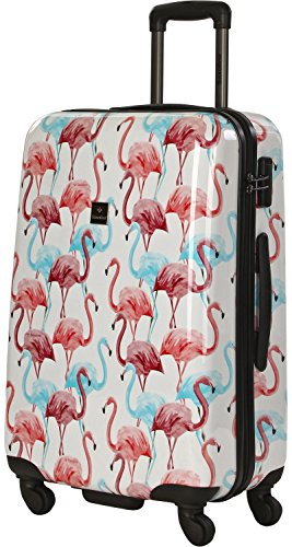 Saxoline Flamingo Koffer - 53 L, Mehrfarbig