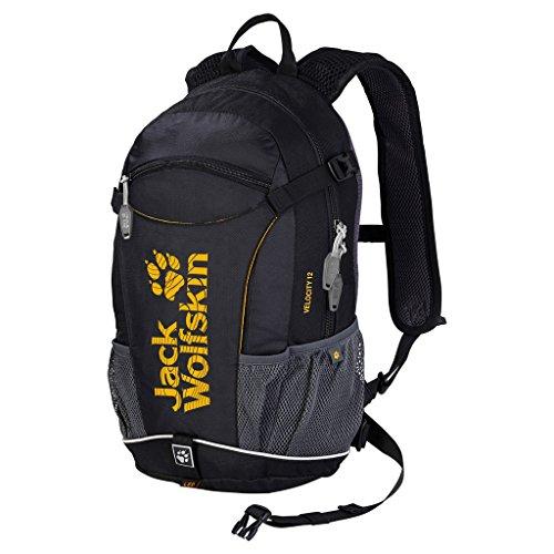 Jack Wolfskin Unisex Rucksack Velocity 12, black, 44 x 26 x 18 cm, 12 liters, 2000923-6000
