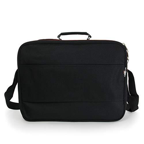XXL Umhängetasche Business Messenger Bag Notebook Tasche Black FLUGBEGLEITER MESSENGER ARBEITSTASCHE HERRENTASCHE DAMENTASCHE - 2
