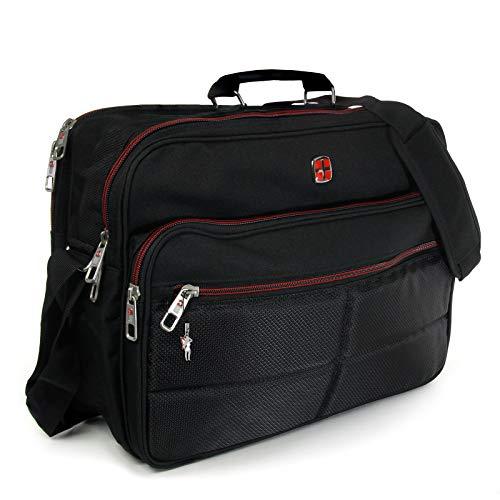 XXL Umhängetasche Business Messenger Bag Notebook Tasche Black FLUGBEGLEITER MESSENGER ARBEITSTASCHE HERRENTASCHE DAMENTASCHE - 3