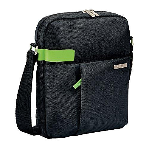 Leitz Leichte Business Messenger-Tasche 15.6 Zoll (geeignet für Laptop, Smart Traveller, Polyester/Metall/Leder, Complete), Schwarz, 60190095