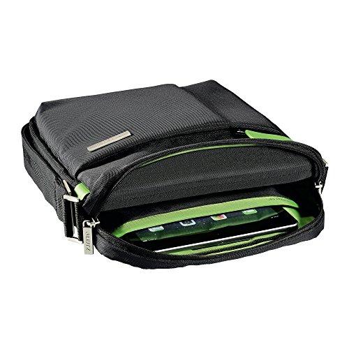 Leitz Leichte Business Messenger-Tasche 15.6 Zoll (geeignet für Laptop, Smart Traveller, Polyester/Metall/Leder, Complete), Schwarz, 60190095 - 3