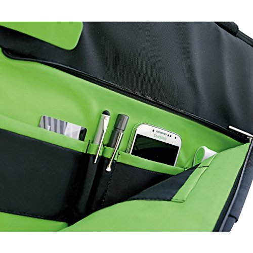 Leitz Leichte Business Messenger-Tasche 15.6 Zoll (geeignet für Laptop, Smart Traveller, Polyester/Metall/Leder, Complete), Schwarz, 60190095 - 16