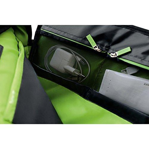 Leitz Leichte Business Messenger-Tasche 15.6 Zoll (geeignet für Laptop, Smart Traveller, Polyester/Metall/Leder, Complete), Schwarz, 60190095 - 17