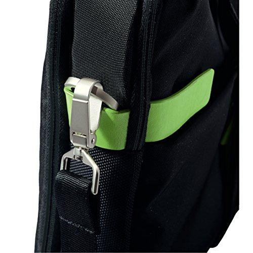 Leitz Leichte Business Messenger-Tasche 15.6 Zoll (geeignet für Laptop, Smart Traveller, Polyester/Metall/Leder, Complete), Schwarz, 60190095 - 19