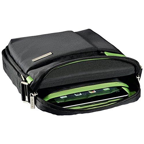 Leitz Leichte Business Messenger-Tasche 15.6 Zoll (geeignet für Laptop, Smart Traveller, Polyester/Metall/Leder, Complete), Schwarz, 60190095 - 11