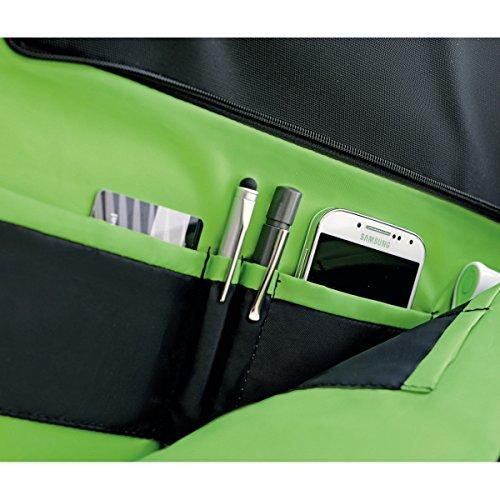 Leitz Leichte Business Messenger-Tasche 15.6 Zoll (geeignet für Laptop, Smart Traveller, Polyester/Metall/Leder, Complete), Schwarz, 60190095 - 5