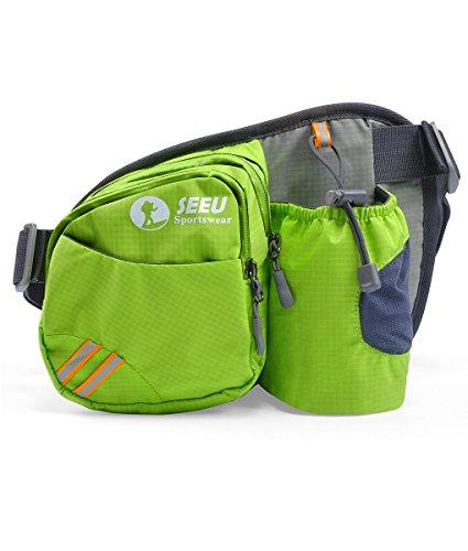 Multi-Function Gürteltasche Bauchtasche Hüfttasche Außen Mit Flaschenhalter wasserabweisend Unisex Taille Tasche nur Tasche Grün