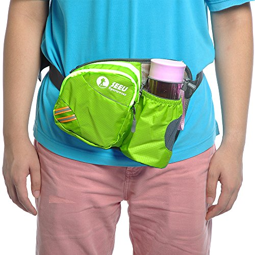 Multi-Function Gürteltasche Bauchtasche Hüfttasche Außen Mit Flaschenhalter wasserabweisend Unisex Taille Tasche nur Tasche Grün - 6