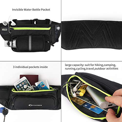 Bauchtasche Gürteltasche für Flaschen Handy 5,5 Zoll – Joggen + Fahrradfahren + Reise + Laufen   Bessere Gewichtsverteilung   Trinkgürtel Hüfttasche Damen Herren - 6