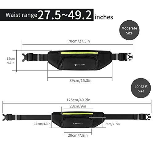 Bauchtasche Gürteltasche für Flaschen Handy 5,5 Zoll – Joggen + Fahrradfahren + Reise + Laufen   Bessere Gewichtsverteilung   Trinkgürtel Hüfttasche Damen Herren - 7
