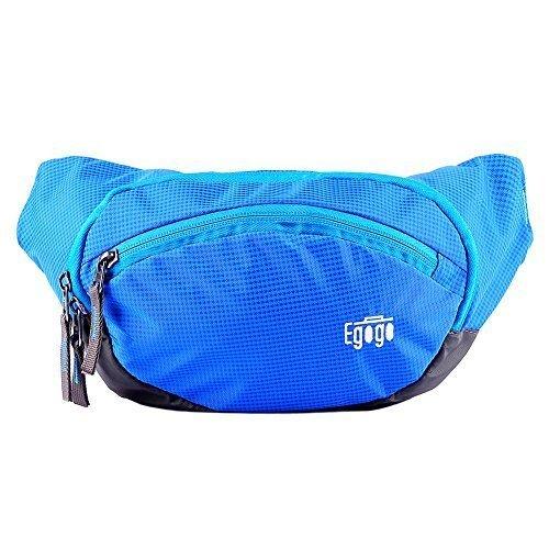 EGOGO Reisen Sport Fanny Pack Bauchtasche Gürteltasche (Blau)