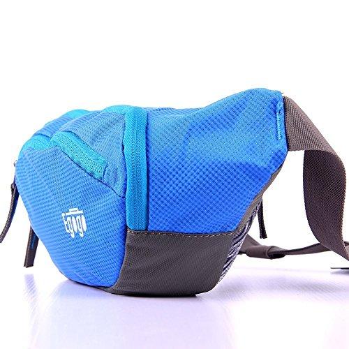EGOGO Reisen Sport Fanny Pack Bauchtasche Gürteltasche (Blau) - 4