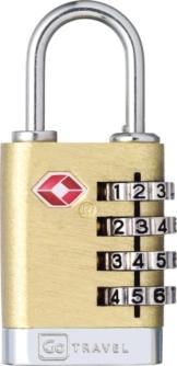 Quatro Travel Sentry® 4-rädriges Zahlenschloss (Usa) Kofferschloss Gepäckschloss